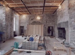 2-Edinburgh Castle Laich Hall during reinstatement
